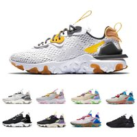 React Vision Honeycomb Black Iridescent React Vision mens running shoes Vast Grey Photon Dust Saffron Desert Oasis men women trainers sports designer sneakers Zapatos