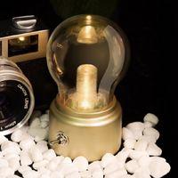 ビンテージ電球夜ライトレトロなUSBランプ充電式ナイトライトLEDの省エネブックライトミニベッドランプCrestech