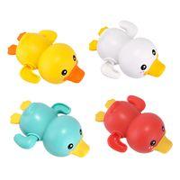 여름 아기 목욕 장난감 샤워 시계 수영 어린이 목욕 욕조 장난감 아이 선물 오리 물 귀여운 노란색 플레이