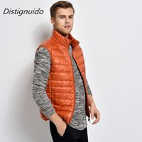 White Duck Down Vest Male Slim Vest 2020 Brand Men Sleeveless Jacket Winter Ultralight Mens Windproof Warm Waistcoat MJK049