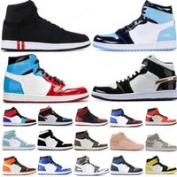 NEW 2020 Basketballschuhe 1s oben Obsidian UNC Fearless PHANTOM TURBO GREEN 1 Rückwand PHANTOM GYM RED Sportturnschuhtrainer Größe 36-46