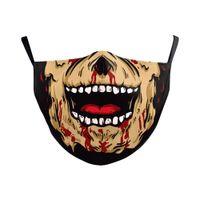 Drapeau Italie Espagne DHL Imprimer Skull Mask Keep Masques Fighting Tissu de protection des adultes PM2 OC9E