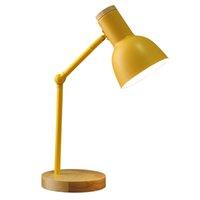 북유럽 테이블 램프 침실 침대 옆 빛 LED 데스크 램프 아동 학생 연구 도서 독서 램프 Bureaulamp E27 미국 EU 플러그