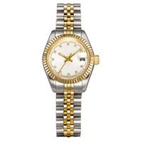 donne U1 fabbrica del vestito orologi pieno 28 millimetri in acciaio inox Sapphire signore d'argento impermeabile luminoso guardare Montres de Luxe femme