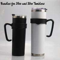 Poignées en plastique portables pour 20 tasses de 30 oz Nonslip SkinnyTumbler poignées Porte-bouteille PP pratique pour une tasse de voiture 20 30ounce