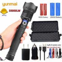 yunmai 5000lm XHP70.2 XHP50 wiederaufladbare leistungsstarke taktische LED-Taschenlampe Lampenleistung 18650 26650 Batterie whole GpJQ #