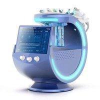 Probable Ice Azul Ultrasonic RF Aquubber Scrubber Anti-arrugas Hydraoxygen Dermabrasion Facial con la máquina de limpieza del analizador de la piel