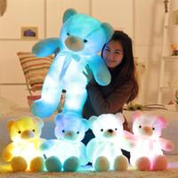 Big Coloré Ours en peluche lumineuse peluche peluche peluche jouets Kawaii Light Up LED Toy Toy Enfants Cadeau de Noël