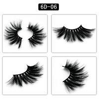 Super long and dense Eyelashes Soft Natural 6D 25mm mink lashes simulation 100% Real Mink false eyelashes Eyelash Packaging