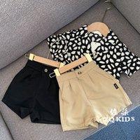 Nazionale per i bambini vestiti 2020 estate nuovi ragazzi e ragazze casuale versatile occidentali coreana pantaloncini stile solido pantaloni di colore di moda
