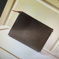 M47542 Touza de viaje Bolsa de inodoro 26 cm Protección Estuche de belleza Bolsa de lavado Cuero Mujer Clutch Mono Impermeable Lona Hombres Cosméticos Bolsas Lujos Distribuidores Casos