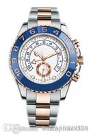 Master, Reloj de los hombres, estilo deportivo, hebilla plegada, vidrio de zafiro, 44 mm, anillo de cerámica, banda de acero inoxidable, piloto