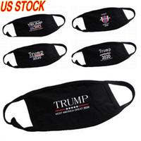 2020 Trump cara algodão máscaras pretas Cyliong nti-Poeira Mulher homens unisex Máscaras designer de moda Impresso cara preta lavável Máscara 5 Styles
