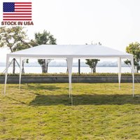 Shade portátil branco toldo Outdoorhome festa jantar 3 x 6m seis lados duas portas tenda impermeável com tubos espirais carro gazebo