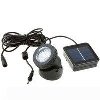 6 LED wasserdichte Unterwasser Solar Power Spot-Licht im Freien Garten-Rasen-Lampe Schwimmbecken Unterwasser-Beleuchtung