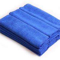 Blå mjuk absorberande tvättduk bilhandduk mikrofiber bil tvättduk 70cm * 30cm
