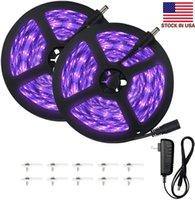 33피트 UV 블랙 라이트 스트립 12V 유연한의 Blacklight 600 개 단위 UV 램프 구슬, 10M LED 블랙 라이트 리본, 바디 페인트, UV 조명, 룸 침대
