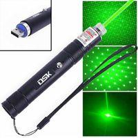 100mile verde laser ponteiro recarregável astronomia 532nm lazer caneta 2in1 estelar tampão luz recarregável bateria built-in bateria pet plugue USB