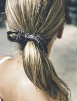 Хвостик Наращивание волос Пряди вязания Real Human Hai Handmade Dreadlocks крючком Extensions волос Silver Gray Hair Natural Ponytails