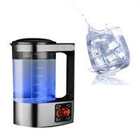 2020 wird die neue Edelstahl 2L wasserstoffreichen Flasche alkalischem Maschine Wasserfilter Getränke lonengenerator Generator EUplug