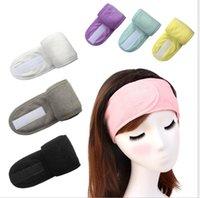 Hairband cosmético lavado de cara Hairlace banda de sujeción ajustable Yoga Mujeres maquillaje facial Towelling baño Hairband de las vendas del salón del balneario de la bufanda LSK263
