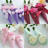 22 cm łuk Cukierki Candy Box Cajas De Regalo Uchwyt Pakiet Case Creative Jewelry Wedding Party Favor Organizer Lipstick Prezent 1xya B2