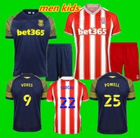 Hommes enfants Kit 20 21 Stoke City Football Maillots CLUCAS 2020 2021 GREGORY POWELL CAMPBELL Football Shirt MCCLEAN VOKES Afobe Jersey