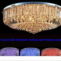 Frete grátis alta qualidade New Modern K9 Cristal LED Candelabro Luz de teto luminária de Iluminação 50 centímetros 60 centímetros 80 centímetros