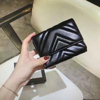 474802 Marmont короткого бумажник классических мод женщины монеты кошелек молния сумка стеганой мягкая кожа бумажники основной держатель карты кредитной карта сцепление