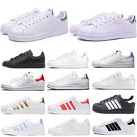 2020 Yeni Superstars Kadın Erkek Günlük Ayakkabılar Beyaz Siyah Yeşil Stan Smith OG beyaz yeşil zebra üçlü siyah moda Spor Kaykay Sneakers