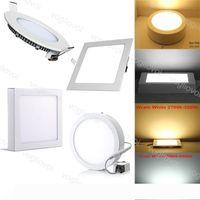 LED Downlights Ultra fino Recesso de superfície levou teto Downlight Luz Painel de 12W 15W 18W Quadrados Indoor Lighting Lamp DHL