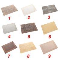 Manteles de PVC estera de tabla del PVC manteles individuales de comedor Habitación resistente al agua a prueba de calor durable impermeable pad DH0041