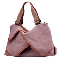 2020 new women's handbag Large Pocket Casual Tote lady's solid Hand bag Shoulder Handbags Canvas Capacity fashion Bags For Women