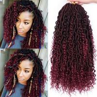18 pollici pre-looped Dea Faux locs ricci crochet treccia bohémien prolunga per capelli morbidi per le estensioni delle donne afro per le donne nere fabbrica