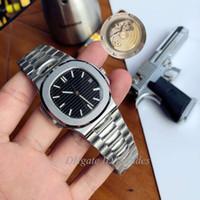 2020 U1 Fabrik High-End-Kriminalität automatische Uhr 5711 Silberband blau Edelstahl Verbrechen Maschine Uhr Perspektive zurück