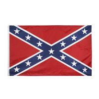 أعلام الولايات المتحدة 90x150 سم الكونفدرالية الحرب الحرب العلم الثائر المدنية المدنية معركة Sixie الوطنية البوليستر وجهين مطبوعة العلم LJJP116