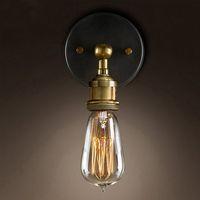 Vintage Loft aplique Lámparas de pared Luces LED E27 Edison del bulbo del hierro plateado retro Industrial Iluminación para el hogar de noche Lámparas de pared Accesorios