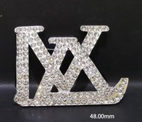 classic Crystal brand Letters Brooch Pins 14K Gold Letters S...