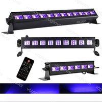Equipo DJ Black luces de la lámpara de UV DMX512 Disco DJ Barra de Navidad de luz láser etapa luz UV arandela de la pared Primer plano de Control de DHL