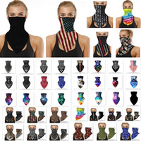 American US Flag Face Bandana Neck Gaiter Sun UV Dust Protection Reusable Half Scarf Motorcycle Face Mask For Men Women Party Mask HH9-3141
