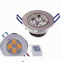 New Downlights 9W 12W AC85V-265V LED plafond Downlight LED encastré Applique Lustre avec LED Driver Pour Éclairage