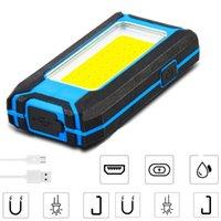 Taşınabilir Fenerler 800LM Güçlü COB LED Torch 3400 mAh USB Şarj Edilebilir Çalışma Işık Muayene Lambası Kamp Çadırı Fener Duvar 3mode