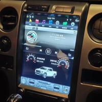"2014 Wifi carplay stereo - 13"" Dikey ekran Android 8 Oto DVD Multimedya oynatıcı GPS Navigasyon için Ford F150 2009 Freeshipping"