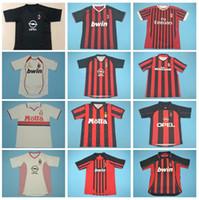 1999 2000 2002 2003 RETRO AC Milan Football Kaka Jersey Vinatge Gullit Pirlo Van Basten Basten Beckham Shevchenko Savicevic Shirt chemise de football