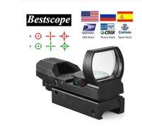 20mm 레일 라이플 스코프 사냥 광학 홀로그램 레드 도트 시력 반사 4 레티클 전술 스코프 콜리메이터 명소