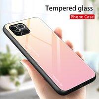 Adatto per il nuovo iPhone di Apple Copertura protettiva 11Pro anti-goccia Gradient cassa del telefono di 12 camuffamento di vetro personalizzato mobile di colore