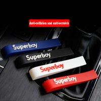 4pcs / set Porta Auto Borda proteção tiras de borracha amortecedor do carro Protector Silano Guarda espelho retrovisor zero adesivos Styling Universal