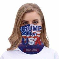 2020 Trump maschera di protezione lavabile elezioni americane di stampa antipolvere Maschere Maschere Outdoor Ciclismo Magia Sciarpe Designer partito CYZ2570 60Pcs