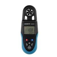 디지털 풍력계 핸드 헬드 풍속 테스터 LCD 공기 온도 속도 미터 공기 유량계 모든 일 SUN EM2245
