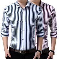 남성용 드레스 셔츠 프랑스어 커프스 망 긴 소매 셔츠 고품질 정규 맞는 남성 사회 웨딩 파티 커프스 단추 플러스 사이즈 5XL